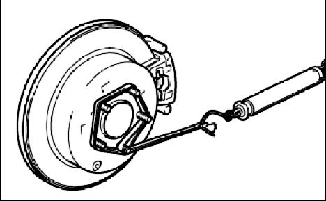 Измерение момента вращения спицы Mitsubishi Grandis