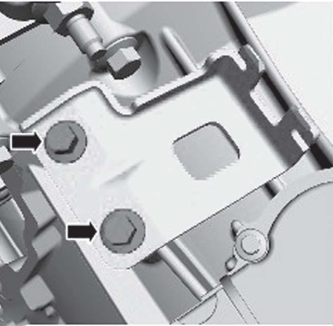 9. Опустить рычаг фиксатора разъема жгута электропроводки вниз, как показано на рисунке ниже.