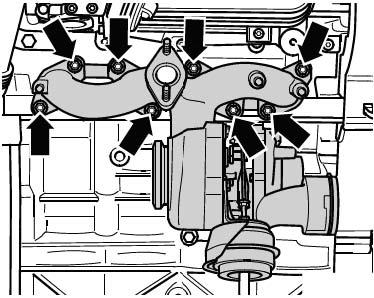 Ремни турбонагнетателя Skoda Octavia A5