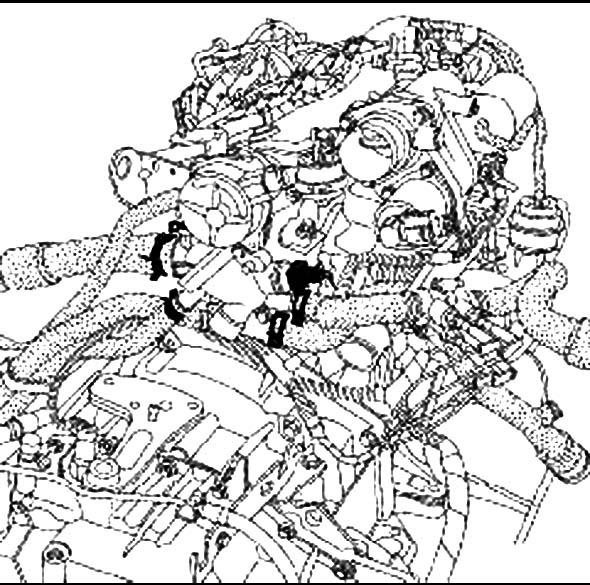 Снятие корпуса термостата Renault Master
