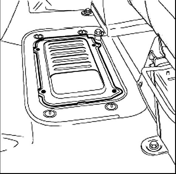Снятие крышки радиатора Renault Master