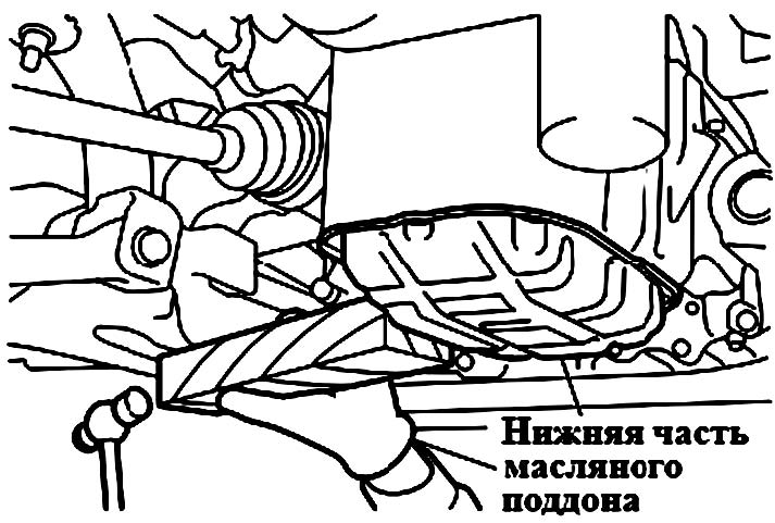 Снятие низшей части масляного поддона Mitsubishi Galant