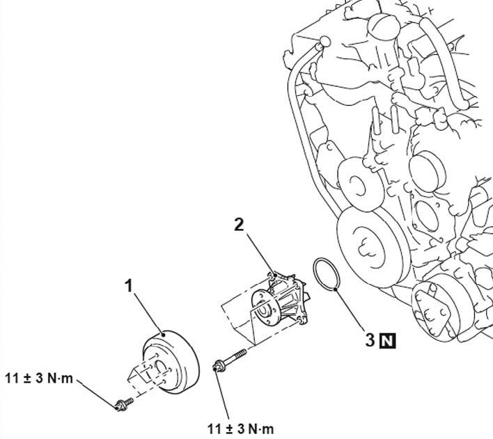 Снятие приводного ремня Mitsubishi ASX