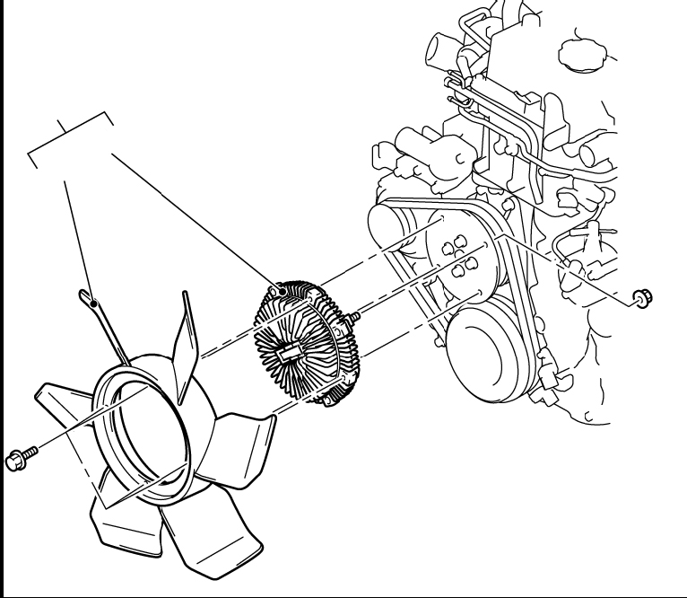 Вентилятор охлаждения Mitsubishi Pajero IV
