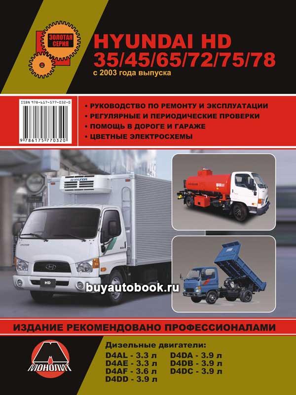 Hyundai, HD, 35, 45, 65, 72, 75,78, руководство по ремонту, инструкция по эксплуатации