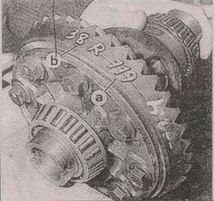 главная предача Audi 80, главная предача Audi 90