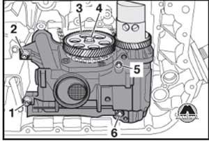крепление масляного насоса Audi A6 / A6 Avant