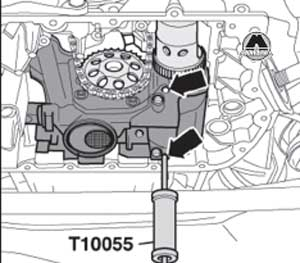 съёмник масляного насоса Audi A6, съёмник масляного насоса A6 Avant
