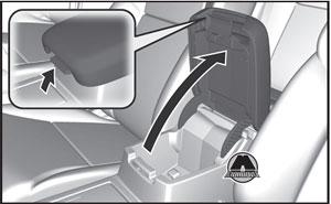 Центральная консоль Honda CR-V с 2010