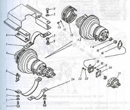 агрегат насосный предпускового подогревателя