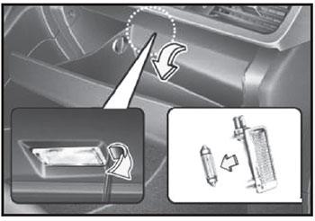 Лампы перчаточного ящика Kia Optima