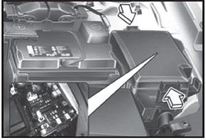 Предохранители в моторном отсеке Kia Cerato