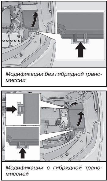 Моторный отсек Lexus RX 200t
