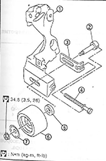 Натяжной шкив Nissan Sentra В17