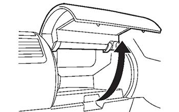 Верхний перчаточный ящик Nissan Lafesta