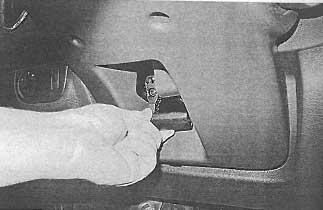 Рычаг фиксатора Renault Logan 2