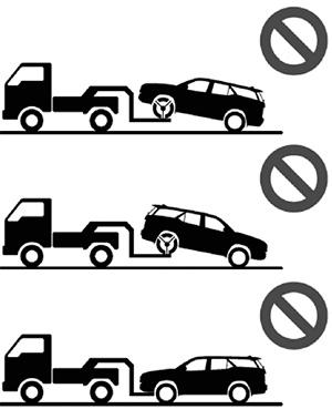 Буксировка методом частичной погрузки Toyota Fortuner