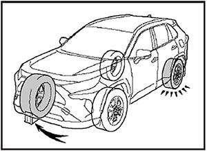 Противооткатные упоры под колеса Toyota Rav4
