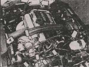 моторный отсек Volvo 850