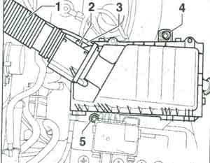 корпус вздушного фильтра Volkswagen Golf IV, корпус вздушного фильтра Volkswagen Bora